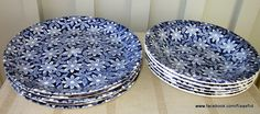 "Beautifull plates from Egersund, Norway. Decor named ""Hvitveis"""