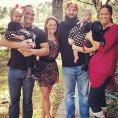 Tyler Rotunda (WWE Bo Dallas), sister, brother Windham Rotunda (WWE Bray Wyatt) and his wife Samantha with Windham & Samantha's daughters Cayden and Kendall. And a black Lab pup!. Cute family. Dad is Mike Rotunda (WWE I.R.S.)