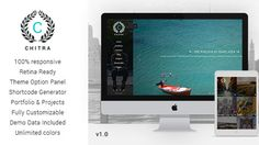 Chitra is a Photography Portfolio WordPress Theme.A responsive photography wordpress theme perfectly suitable for all kinds of creative Photography websites.  Product Features:-  1. Optopns for push and slide menu 2. 5 Beautiful options for your home page 3. Responsive Theme 4. WordPress 3.8+ Ready. 5. 25+ Shortcodes 6. Custom Like option for Blog Posts 7. Gallery Post Format 8. Unlimited Colors