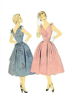 Vintage 1950s Summer Cocktail Party Dress by RebeccasVintageSalon, $22.00