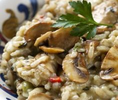 Risotto with mushrooms Stuffed Mushrooms, Stuffed Peppers, Mushroom Risotto, Risotto Recipes, Sous Vide, Pressure Cooking, No Cook Meals, Food To Make, Slow Cooker
