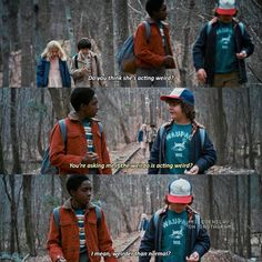 """5,482 Likes, 67 Comments - Stranger Things (@milevenslay) on Instagram: """"[1x05] Good morning btw — Describe Lucas Sinclair using one word — Give credit when using"""""""