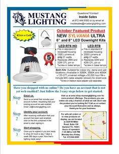 """Our October Featured Product, the new SYLVANIA ULTRA LED 6"""" and 8"""" Downlight Kits for new or existing construction."""