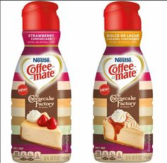 Coffee Mate Cheesecake Factory Coffee Creamers - Strawberry Cheesecake and Dulce De Leche Flavors