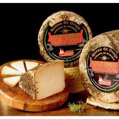 Queso al Romero – elaborado con leche cruda de oveja Roblemancha, de Villarobledo, Albacete, España