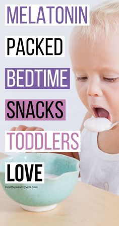 Help your toddler sleep easier with these melatonin packed bedtime snacks. These toddler bedtime snacks help promote sleep and are bursting with melatonin helping your toddler sleep easier at bedtime. Toddler Snacks, Toddler Preschool, Toddler Activities, Toddler Stuff, Snacks For Toddlers, Kid Stuff, Picky Toddler Meals, Language Activities, Toddler Learning