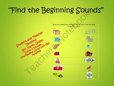 Find the Beginning Sounds #2 from The Reading Corner on TeachersNotebook.com -  (13 pages)  - This package includes 10 activity sheets.   The activity sheet has pictures in 2 columns.  Each picture in Column A has a picture in Column B that has the same beginning sound.