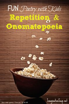 get kids writing sensory poetry with popcorn!
