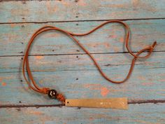 leather cord necklace.....WISH