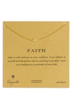 Main Image - Dogeared 'Reminder - Faith' Sideways Cross Pendant Necklace