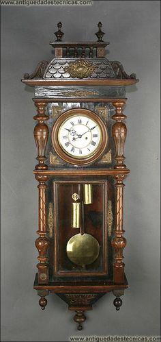 Reloj de Pared Viena Gustav Becker del Siglo XIX.
