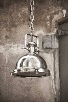Industrial lamp available @ Pracht Interieur Industrial Interiors, Vintage Industrial, Industrial Style, Industrial Lighting, Pendant Lighting, Lamp Design, Hanging Lights, Home Deco, Interior Inspiration