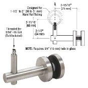 HR2FGBS - CRL Brushed Stainless Coastal Series Glass Mounted Hand Rail Bracket