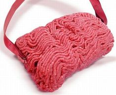 Ground beef handbag. You never know when you might need to whip up a batch of chili.