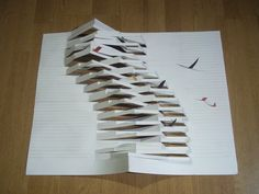 Folding Architecture, Conceptual Architecture, Architecture Concept Drawings, Sustainable Architecture, Architecture Design, Brochure Folds, Cardboard Model, Paper Art, Paper Crafts