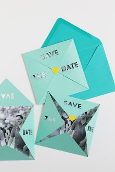 Die Cut Save The Date with Cricut - Michelle Edgemont Design Save The Date Simples, Unique Save The Dates, Wedding Save The Dates, Save The Date Ideas Diy, Cricut Wedding Invitations, Save The Date Invitations, Wedding Stationary, Invites, Party Invitations