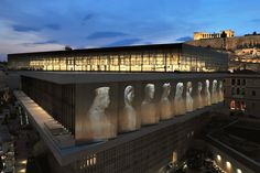 Acropolis Museum in Athens Greece, designed by Swiss-American architect Bernard Tschumi.