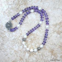 Amethyst and freshwater pearls - AussenWolf Designs