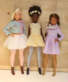 My 3 repaint barbie fashionistas (curvy and petites models)  #barbiefashionistas #barbie #repaint #barbiepetite #barbiecurvy #doll #ooak
