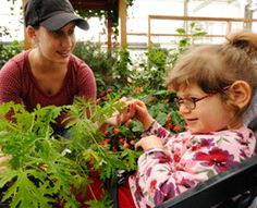 This is a photo of horticultural therapy in action at the Perkins school for the blind. This program could provide evidence that one doesn't need sight to experience the benefits of HT. The therapy may work by enhancing the other senses.