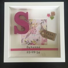 Personalised Framed Gift For Baby Girl Or Boy Christening Birth