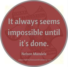 Keep plugging away at what you CAN do and before you know it, what seemed impossible is accomplished.