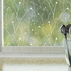 StickPretty Willow Privacy Window Film – UV Protection and Heat Control – Static Window Cling for Office Home Bathroom Kitchen Glass Door – Non-Adhesive Sidelight Windows, Windows And Doors, Diy Windows, Window Stickers, Window Decals, Wall Decals, Window Art, Wall Stickers, Vinyl Decals