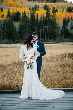 Photographer:  Lori Romney Photography | Apparel: Gateway Bridal  Fall bridal inspiration