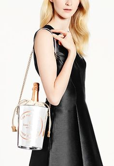 Love this kate spade champagne bucket tote - on sale for $156 with code: JINGLE25 http://rstyle.me/n/u4xc5nyg6