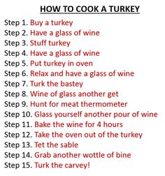 From Just Eat Real Food. How to cook a turkey