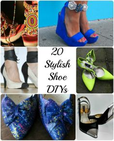 20 Stylish Shoe DIY Projects