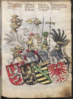 Grünenberg, Konrad: Das Wappenbuch Conrads von Grünenberg, Ritters und Bürgers zu Constanz um 1480 Cgm 145 Folio 12