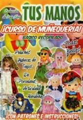 """Free copy of """"Tus manos: curso de muñequeria ~ básico recopilado"""" - - Picasa {These patterns may prove difficult to use because they're printed on top of one another on the pages. Softies, Plushies, Journal Covers, 18 Inch Doll, Doll Accessories, Doll Clothes, Sewing Projects, Diy, Magazine"""