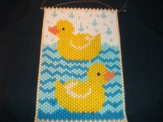 Beaded Duck Banner by Kathys25thHour on Etsy, $15.00
