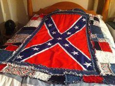 After washing Rebel Flag Quilt