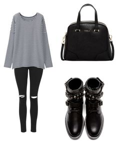"""""""Effortless."""" by you-are-pretty-amazing ❤ liked on Polyvore featuring Topshop, Uniqlo, Yves Saint Laurent, Furla, women's clothing, women's fashion, women, female, woman and misses"""