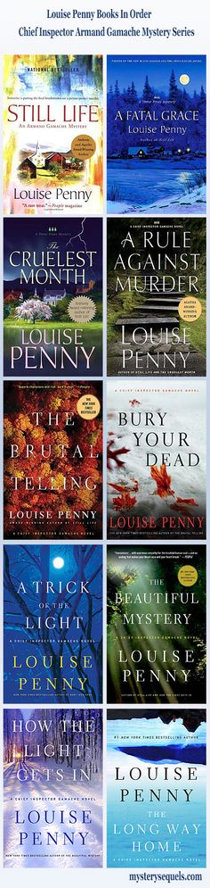 Louis Penny list of books in order Chief Inspector Armand Gamache crime mystery series