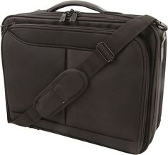 Infinity Laptop Bag 4 Zip Compartments. With padding for laptop and  dividers for documents and stationary. With handle,  shoulder strap and pull-out name tag