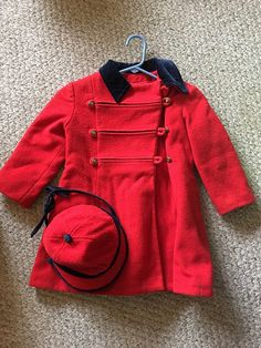 Rothschild Vintage Girls Wool Coat 3T with Matching by SixPeaches