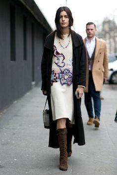knit dress & the rest. #ChiaraTotire in Milan.