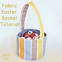 Fabric Easter basket tutorial by Melly Sews
