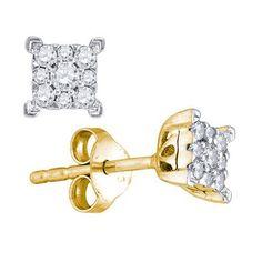 10k Yellow Gold 0.26Ctw Diamond Fashion Earrings