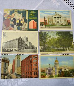 Vintage Postcard Set of 6 Tennessee Georgia by PanchosPorch
