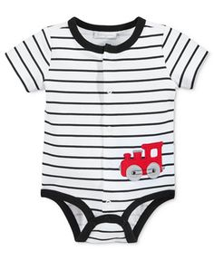 First Impressions Baby Boys' Stripe Train Creeper, Only at Macy's