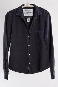 Black Denim Barry Shirt by Frank & Eileen | shopheist.com