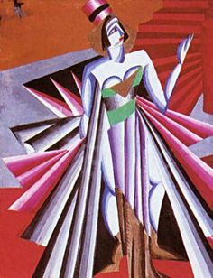 1917 Alexandra Exter - Herodías -diseño de vestuario a la tragedia de Oscar Wilde -Salomé.Teatro de Cámara de Moscú