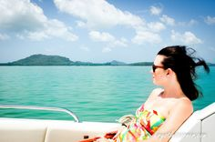 On the speed boat on our way to Santhiya Resort www.krystlescorner.com