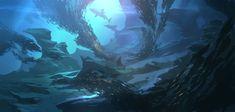 Hunt of shark by Andead.deviantart.com on @deviantART