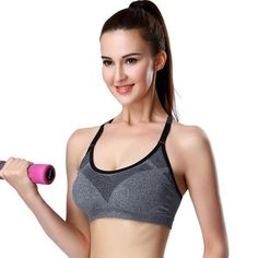 14da3b8c7a Women Sports Bras Shockproof Padded Push Up Sport Bra Top Athletic Tank Top  Gym Running Yoga Bra Vest Stretch Underwear.