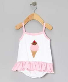 Loving this Pink Ice Cream Skirted Bodysuit - Infant on #zulily! #zulilyfinds